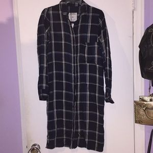 Checkered tunic dress